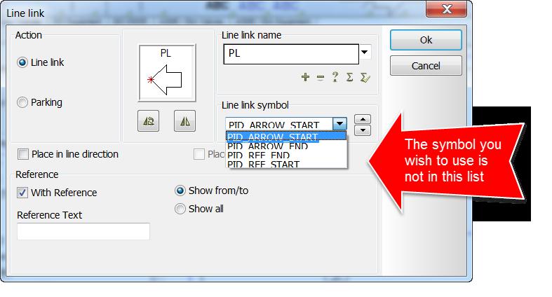 How Do I Make Line Link Symbols Available Cad Helpdesk